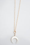 Mother Pearl crescent moon necklace