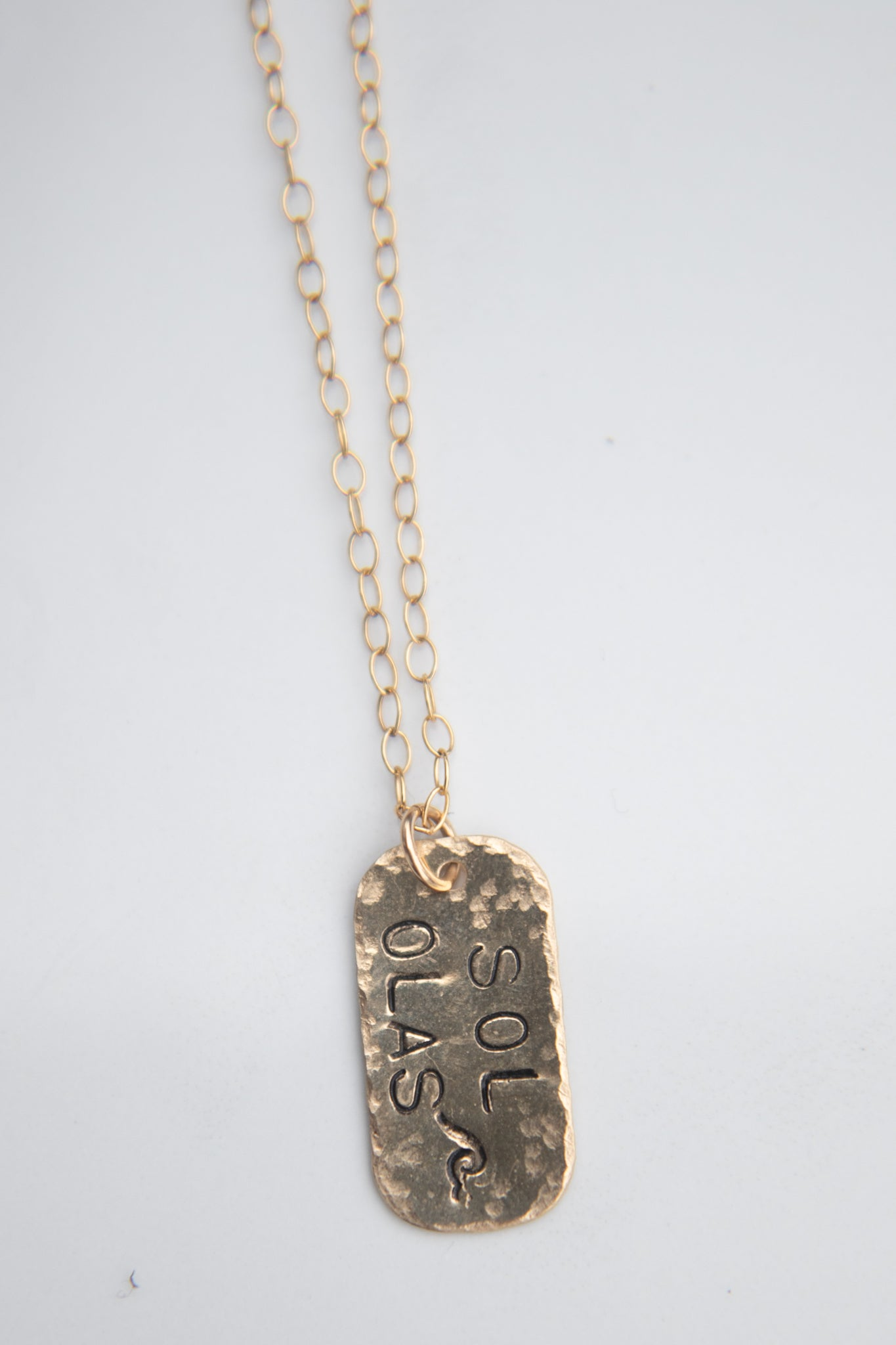 Sol Olas tag Necklace