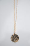 Salty Beach Mama round Medallion Necklace