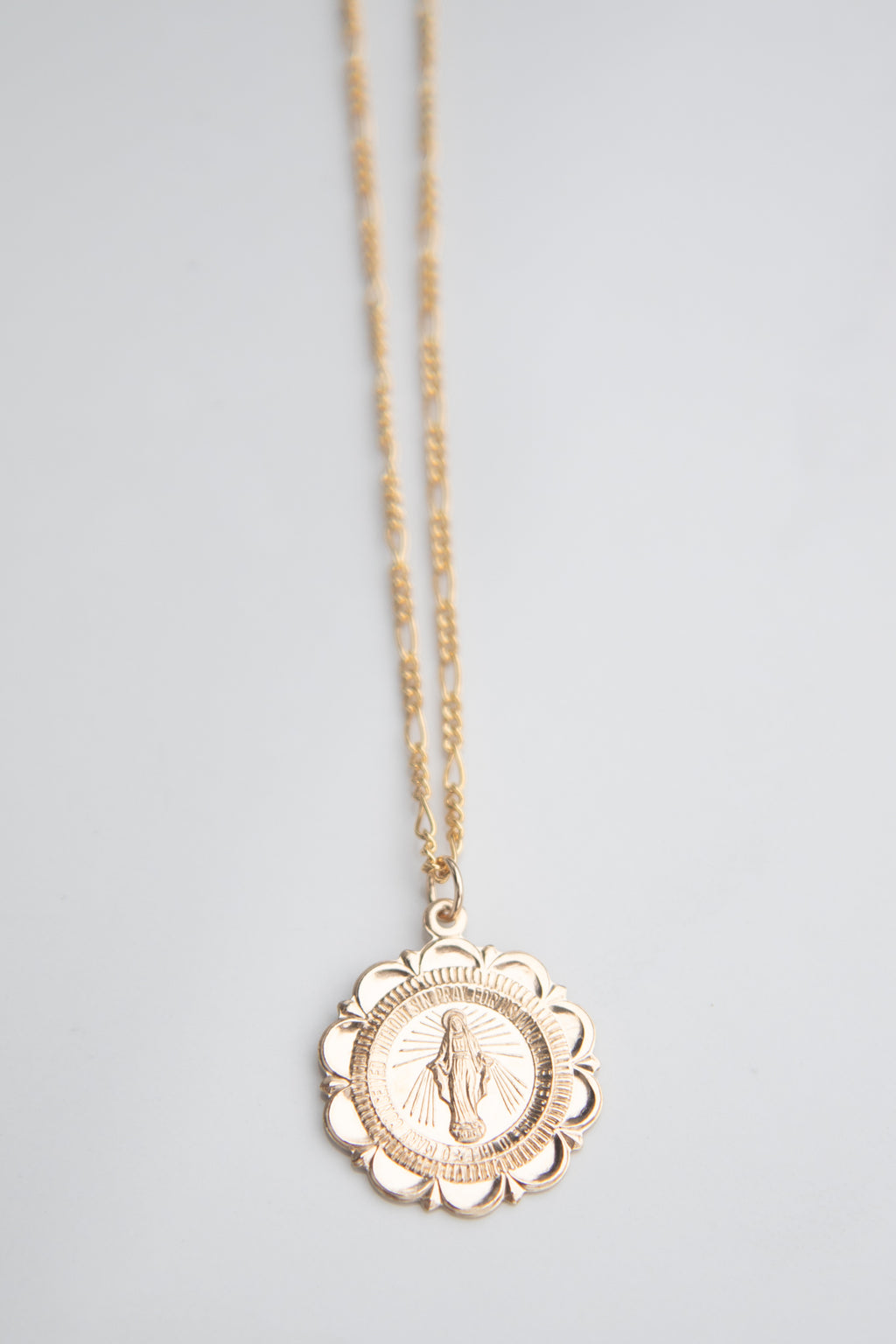 Virgin Mary Flower medallion