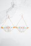Crystal quartz one of  A Kind multicolored Earrings