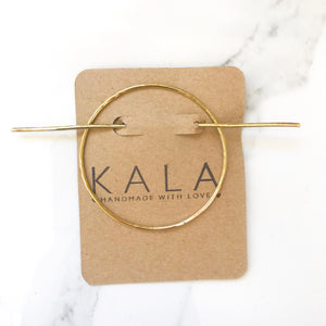 Sol brass hair pin