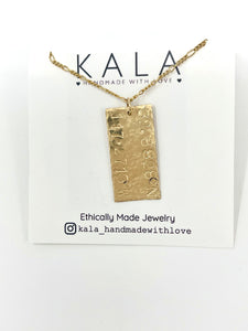 Gitana personalized coordinate necklace