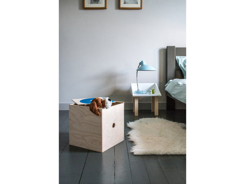 Wooden toy box - Super Box deep blue | Studio delle Alpi