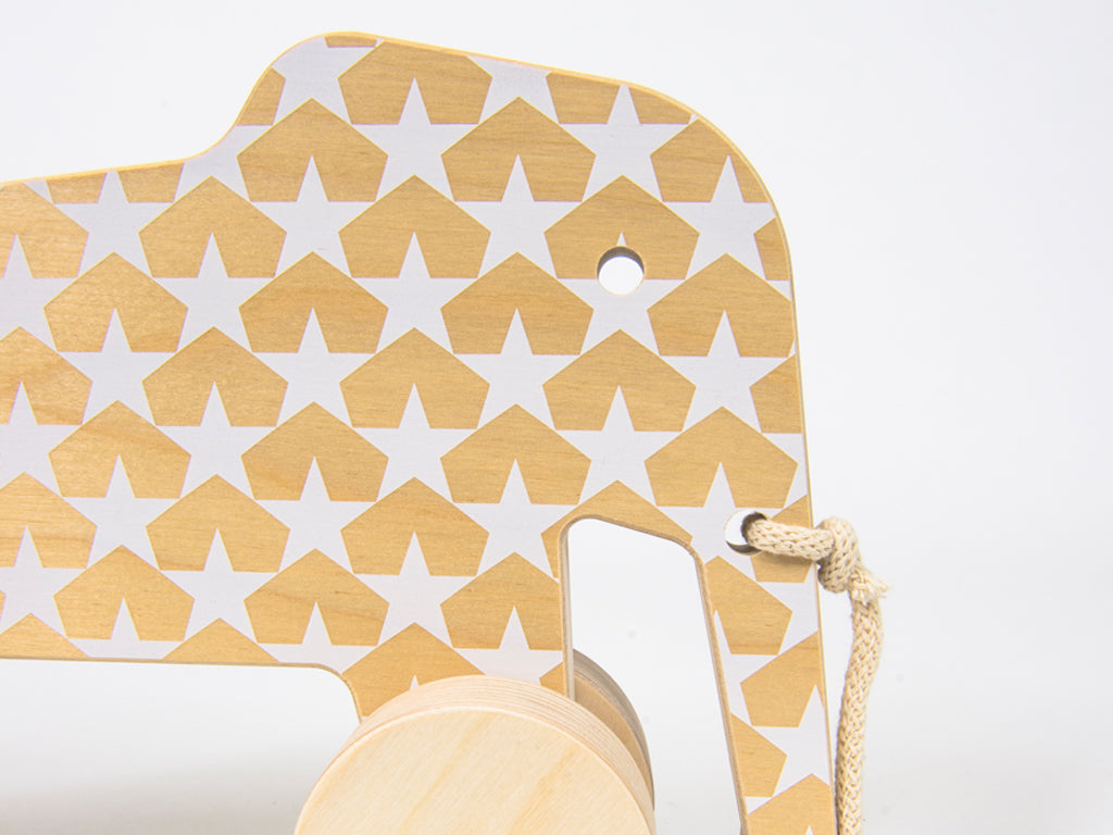 Studio delle Alpi | Wooden design pull toy Eddy the Elephant scandinavian