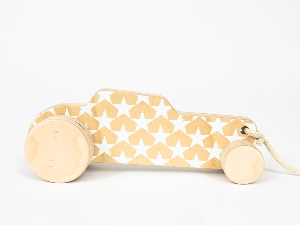 Studio delle Alpi | Wooden pull toy car 'Hot Rod'
