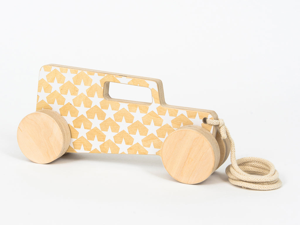 Studio delle Alpi | Wooden pull toy car 'Hot Rod Sedan'