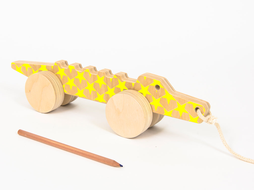 Studio delle Alpi | Wooden pull toy crocodile Marcello the Alligator