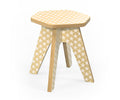 Studio delle Alpi | White wooden design chair stool 'The Milk Stool'