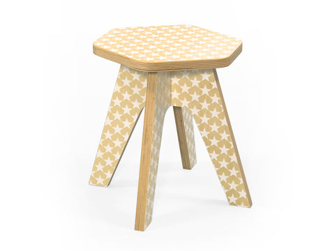 Wooden stool for kids - Milk stool white stars | Studio delle Alpi