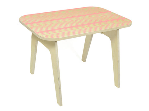Wooden table for kids - Office table pink lines | Studio delle Alpi