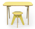 Studio delle Alpi | Yellow wooden design kids table 'The Office Table'