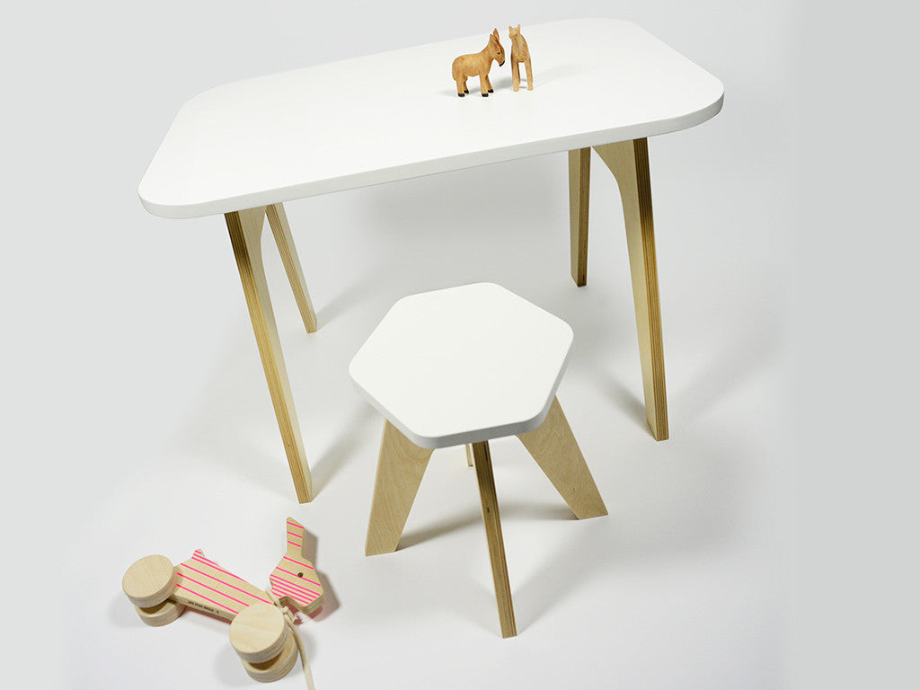 Studio delle Alpi | white wooden design kids table 'The Office Table'