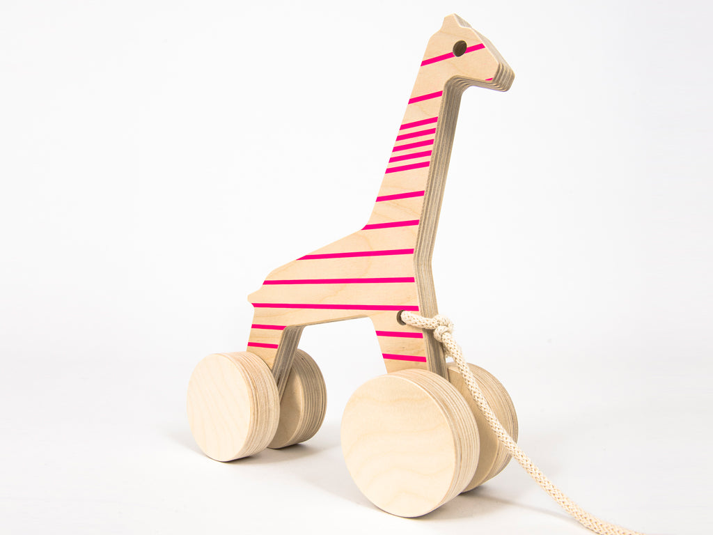 Studio delle Alpi | Wooden pull toy Sofia the Giraffe