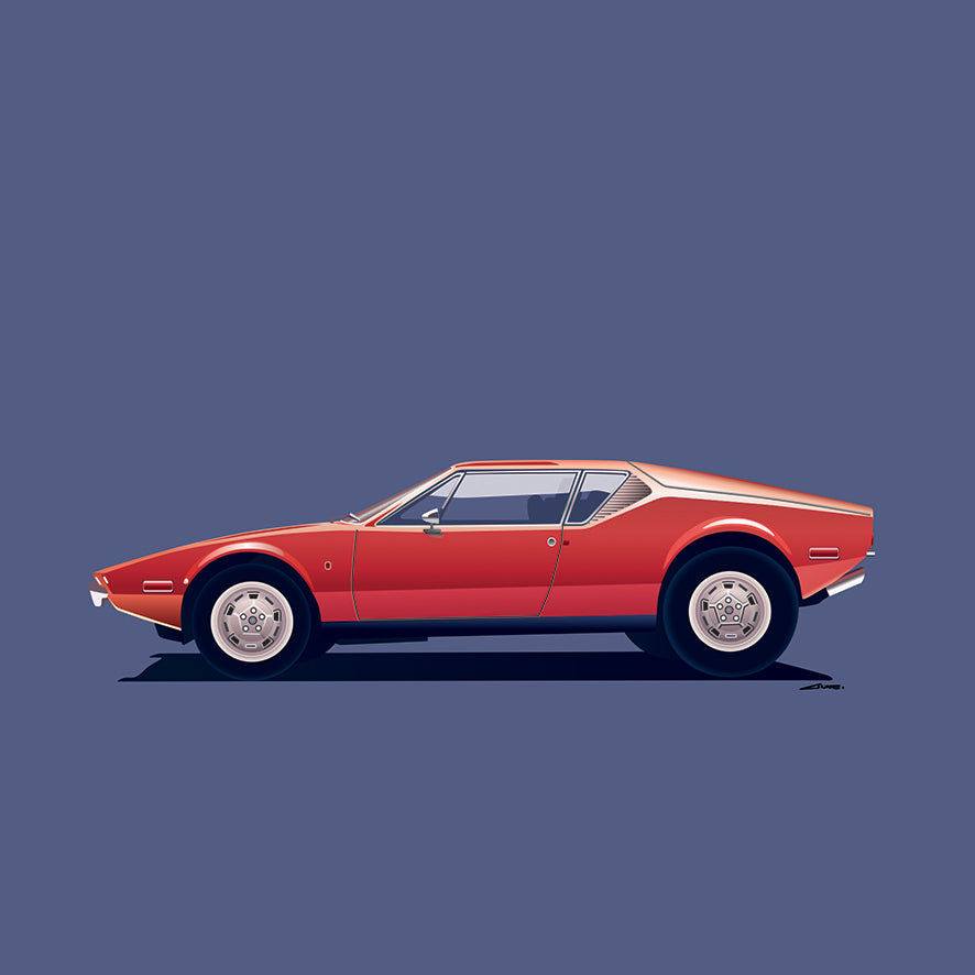 de tomaso pantera, hannibal motors, illustration, car design, car art, art, gandini, vintage, Anne Kieffer