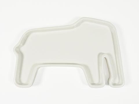 White ceramic elephant plate