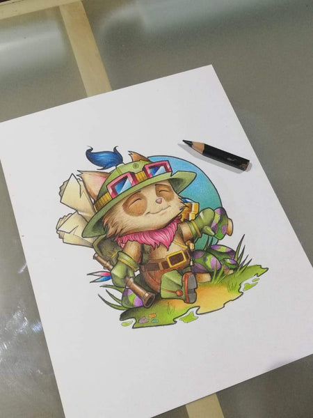 How To Draw Teemo. Step By Step Drawing Of League Of Legends