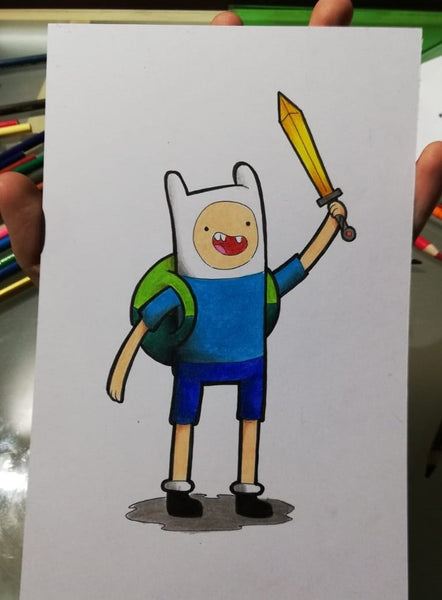 Easy Sketches: How To Draw Finn The Human From Adventure Time