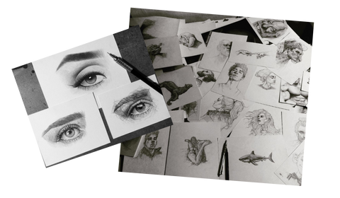 How To Draw - Drawing Realistic Eyes And Different Sketches