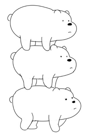 How To Draw We Bare Bears - Drawing Little Details Of Our Cartoon And Legs