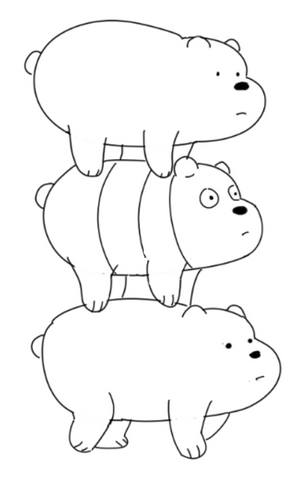 How To Draw We Bare Bears - Drawing The Bears Different Drawing Panda And Lines