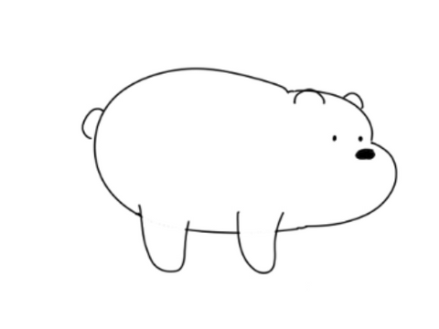 How To Draw We Bare Bears - Drawing The Face Ears Eyes And Tail With A Little C