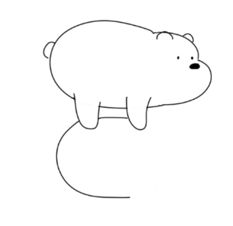 How To Draw We Bare Bears - Drawing The Three Of Them Drawing The Body Of Panda