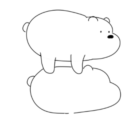 How To Draw We Bare Bears - Drawing The Body Of Panda