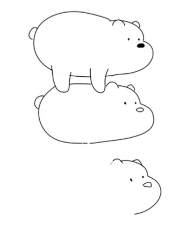 How To Draw We Bare Bears - Drawing The Face Of Panda Ice Bear