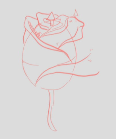 How To Draw A Rose - Drawing A Rose Step By Step - Beginning Of The Rose