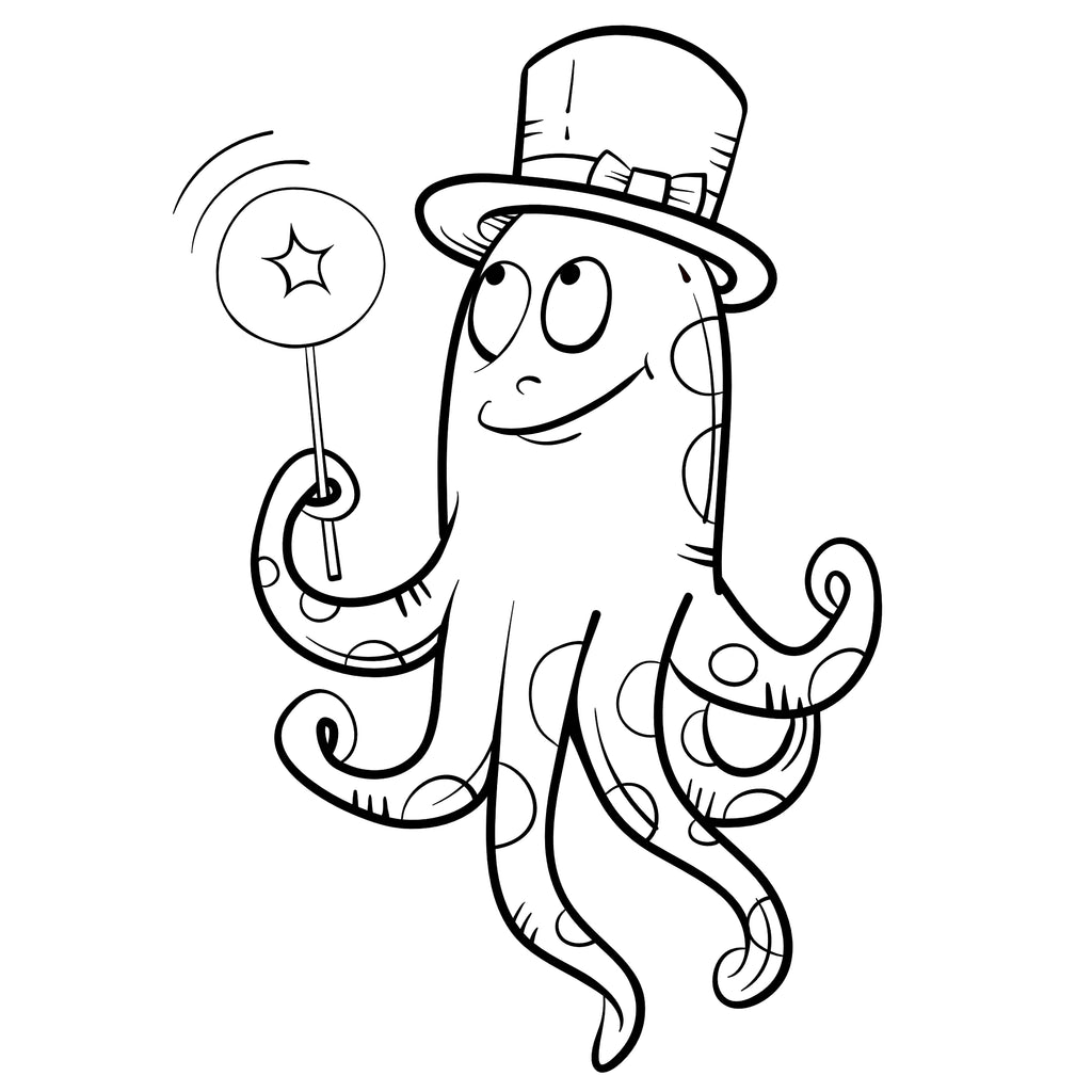 Octopus Cartoon Drawing