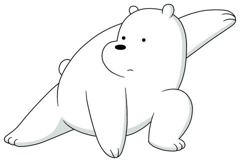 Step by Step Drawing for Beginners: How to Draw We Bare Bears - Ice Bear The Coolest Bear Alive