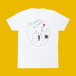 The Future Is Poetic White Tee | Back Illustration