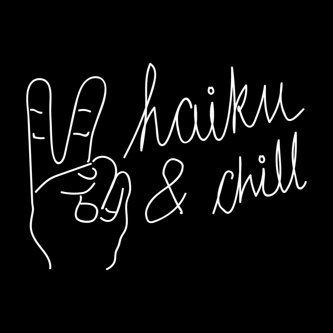 Haiku & Chill Black Tee