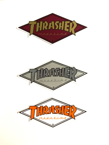 "Thrasher Magazine Diamond 2"" Logo Sticker"