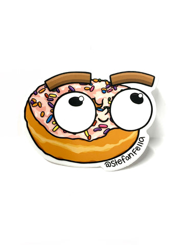 Stefan Fella Donut Sticker