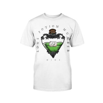 Ghost and Darkness Love Potion Number 9 T-Shirt Military White
