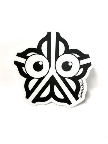Stefan Fella Rochester Flower Logo Sticker