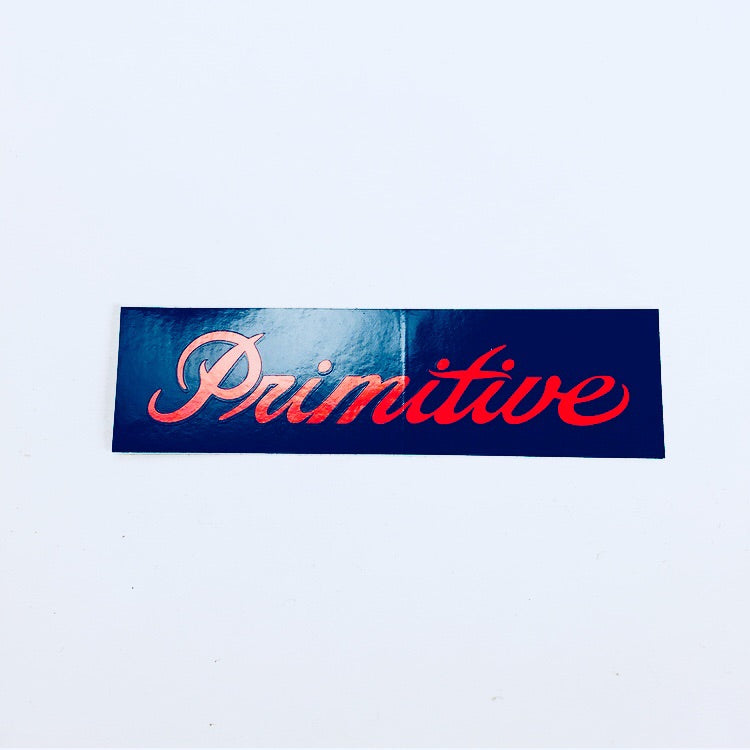 Primitive Skateboards Rectangle script sticker