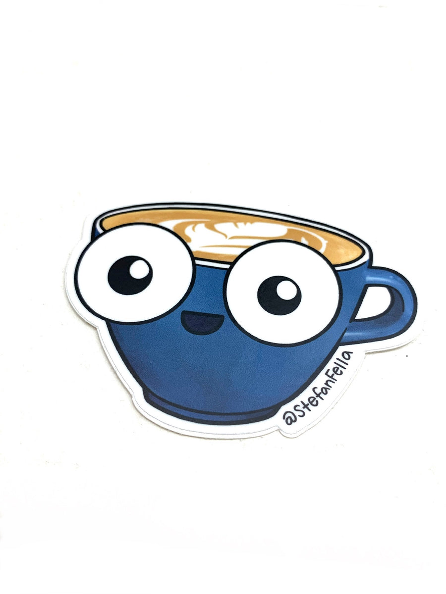 Stefan Fella Latte Sticker