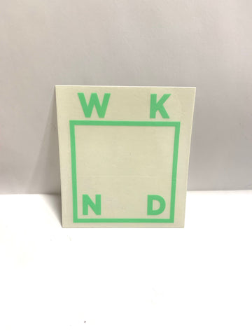 WKND Skateboards LT Green Logo Sticker