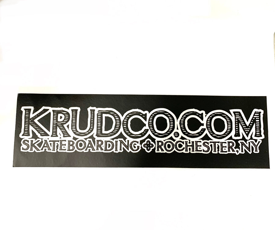 Krudco Skateboarding Banner Sticker Black 6""