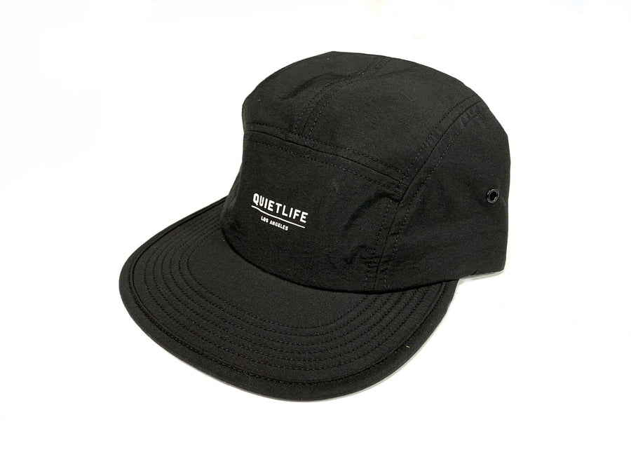 The Quiet Life Way Foundation Camper Panel Black Strapback Hat