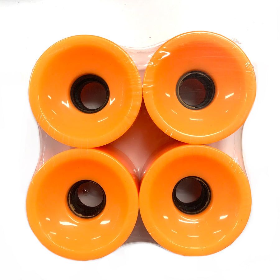 Blank Neon Orange 70mm Cruiser Wheels 83a