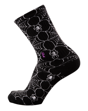 Psockadelic Socks Spider Web Black