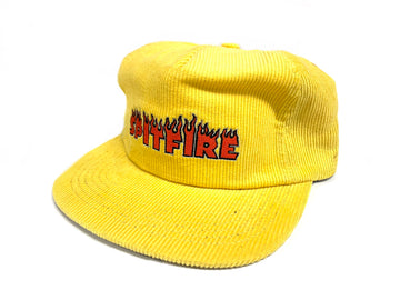 Spitfire Wheels Flash Fire Corduroy SnapBack Hat Yellow