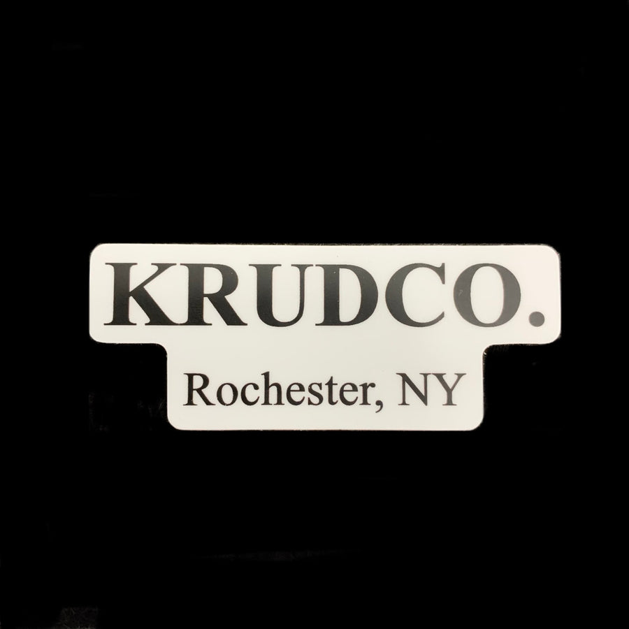 Krudco Small White Sticker 2""