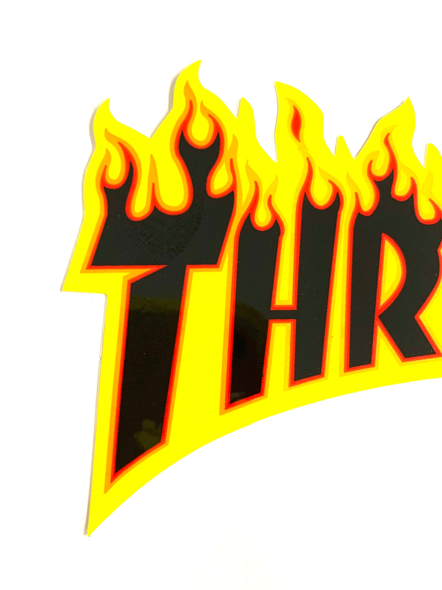 "Thrasher Magazine 4"" Flame Logo Sticker"