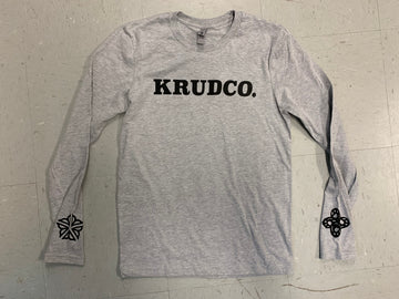 Krudco Skateshop Long Sleeve T-Shirt Grey