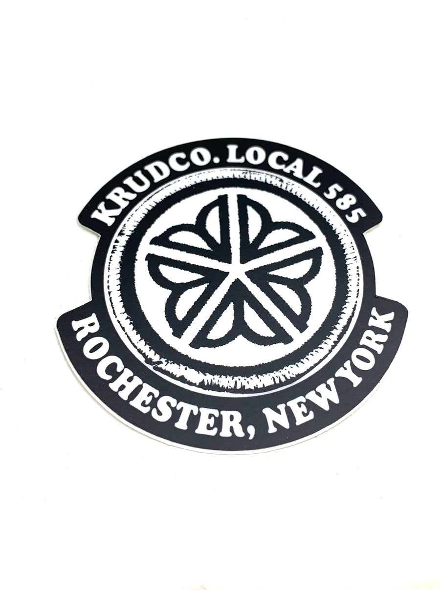 Krudco Flower City Black White Sticker